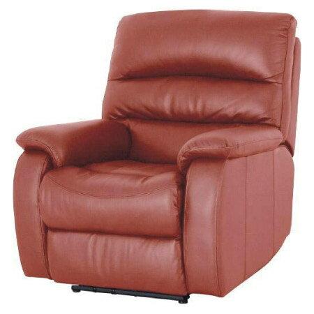 ◎(OUTLET)全皮1人用頂級電動可躺式沙發 BELIEVER RED 福利品 NITORI宜得利家居 1