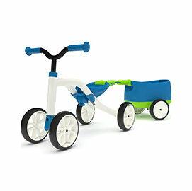 【淘氣寶寶】比利時ChillafishQuadie+Trailie跨騎四輪滑步小拖車-海水藍【防滑四輪好穩定,寶寶容易上手】