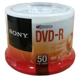 【索尼 Sony 光碟片】SONY DVD-R,16x布丁筒50片 4.7GB 光碟片