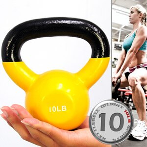 KettleBell包膠10磅壺鈴(實心鑄鐵+橡膠底座)浸膠10LB拉環啞鈴.4.5KG搖擺鈴.4.5公斤舉重量訓練.運動健身器材.推薦.哪裡買C113-2010