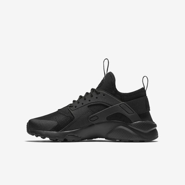 Nike Air Huarache Run Ultra GS 女鞋 大童鞋 慢跑鞋 武士鞋 黑武士 全黑 【運動世界】 847569-004