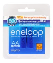 SANYO三洋 eneloop 可充1800次3號低自放電充電電池,密封裝,2顆裝