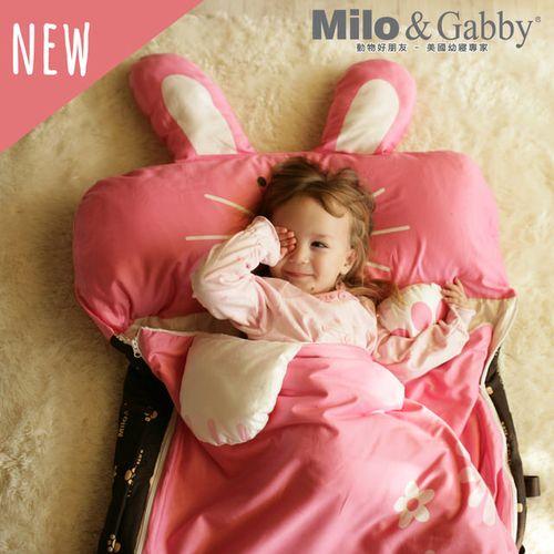 Milo & Gabby 動物好朋友-三合一超柔軟四季睡袋(LOLA兔兔)★衛立兒生活館★