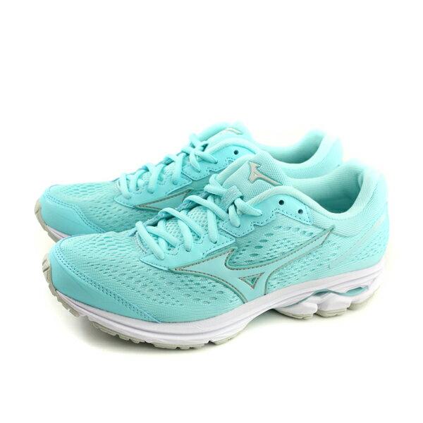 美津濃MizunoWAVERIDER22WIDE慢跑鞋運動鞋淺藍色女鞋寬楦J1GD183227no063