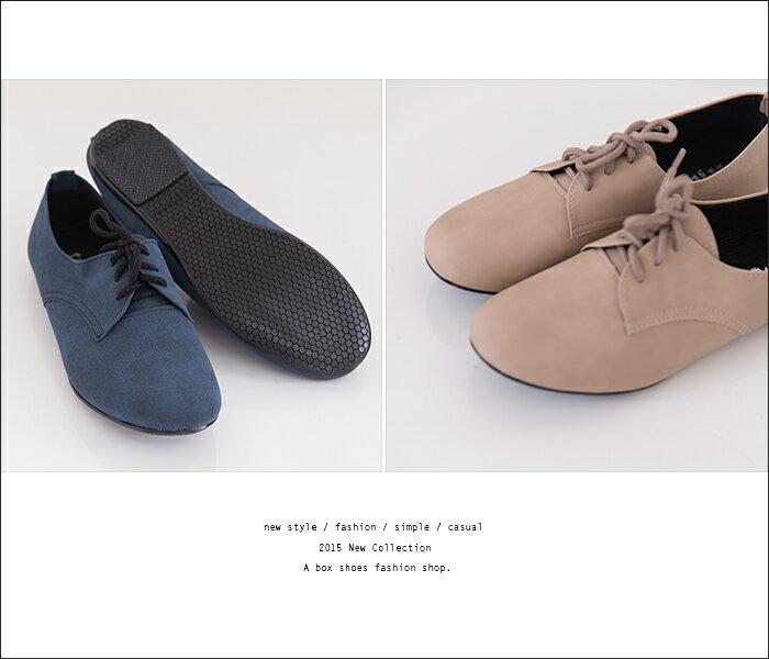格子舖*【AP891】MIT台灣製馬卡龍色系素面綁帶皮質牛津鞋平底包鞋 6色 1