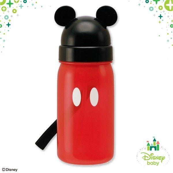 日本直送 Disney 迪士尼 Mickey 米奇大頭圖案 吸管式 水壺 350ml 日本製