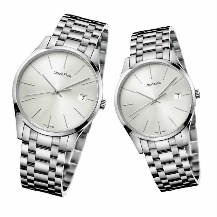 CK 卡文克萊 時光系列 ( K4N21146+K4N23146 ) 經典簡約時尚腕錶 / 白面40+36mm - 限時優惠好康折扣