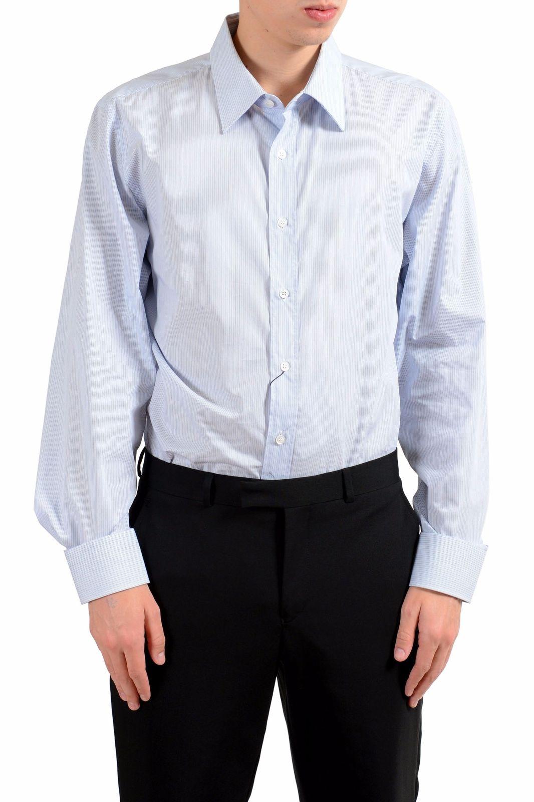 9f36bc3c4cab ONE MODA: Prada Men's Striped Long Sleeve Dress Shirt US 17.75 IT 45 ...