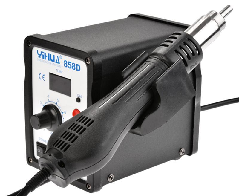 858D Soldering Station SMD Desoldering Solder Iron Stand Black 0