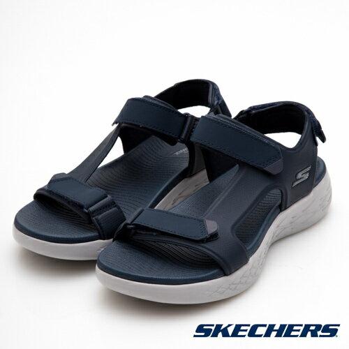 【SKECHERS促銷95折│全店免運】SKECHERS(男)ONTHEGO600時尚休閒涼鞋藍-55366NVY