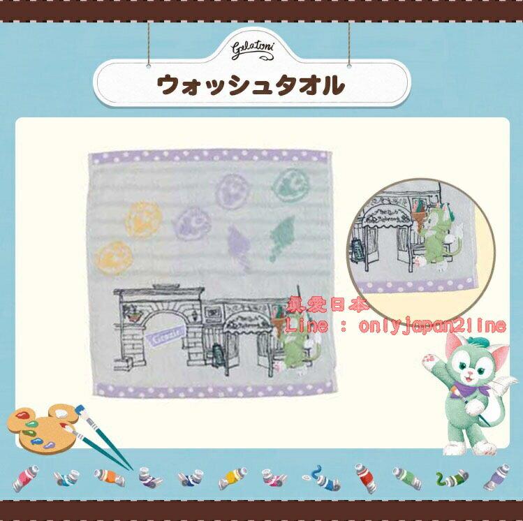 【真愛日本】16070800046樂園刺繡方巾-傑力東尼Duffy 達菲熊&ShellieMay 日本帶回 預購