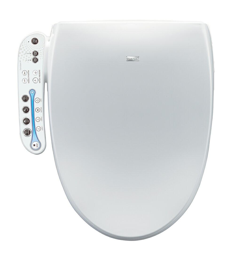 Stupendous Bio Bidet A7 Aura Elongated Bidet Smart Toilet Seat With Led Side Panel Controls White Machost Co Dining Chair Design Ideas Machostcouk