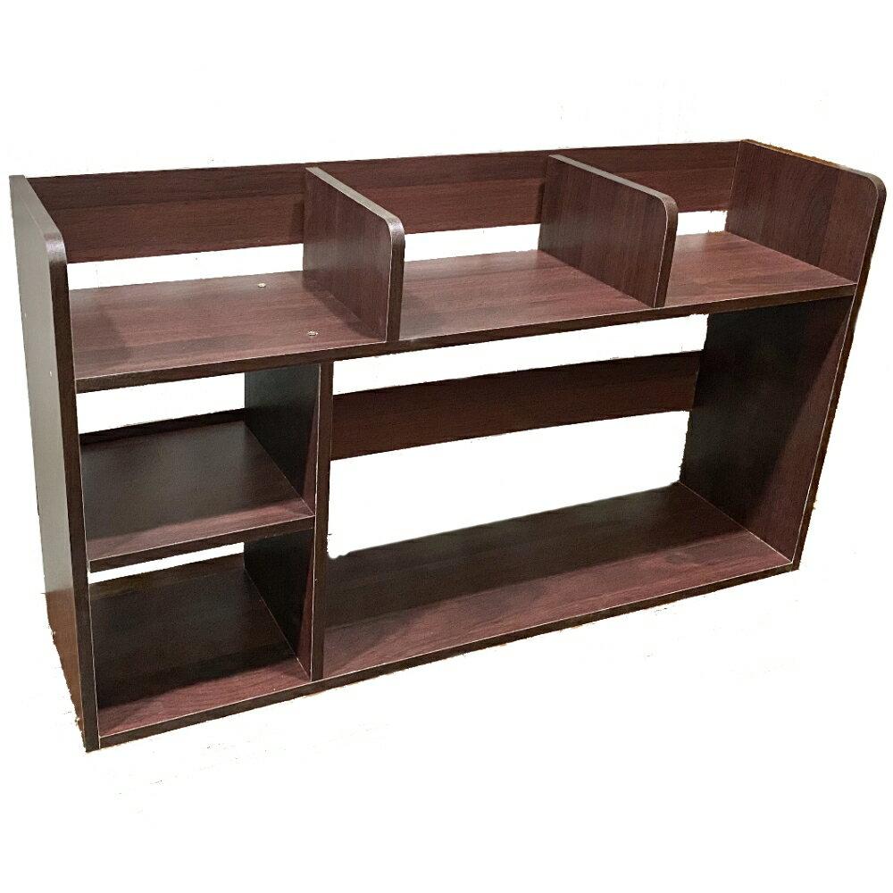 桌上書架/書櫃/螢幕架/置物架【尊爵家】尼客優雅雙層六格桌上豪華型書架80x20x45cm Monarch