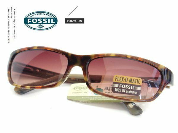【完全計時】手錶館│Fossil 時尚太陽眼鏡 琥珀 咖啡色漸變鏡片 100%抗UV