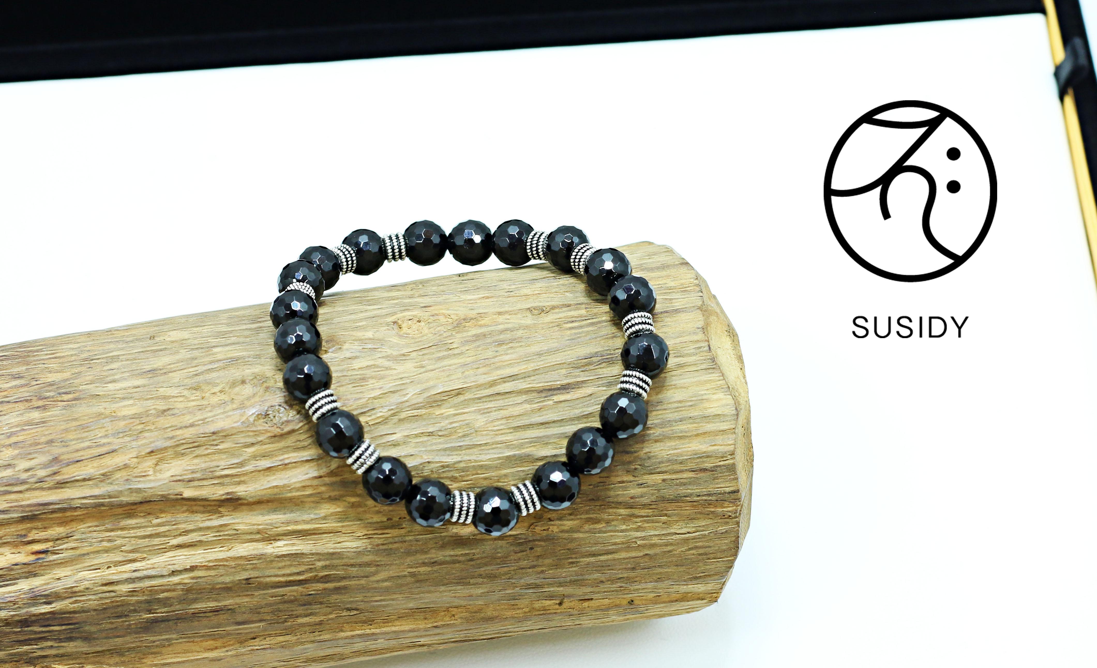 SusidyDesign - 黑碧璽 手珠銀飾