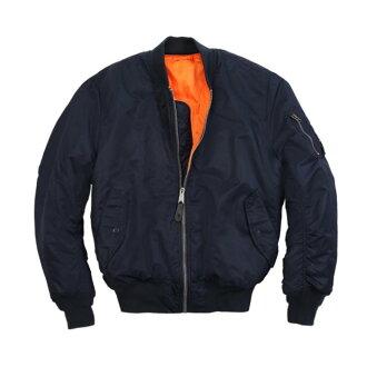 美國百分百【Alpha】MA-1 美版 飛行員 夾克 外套 雙面穿 空軍 防風 經典款 深藍 XS S號 H682
