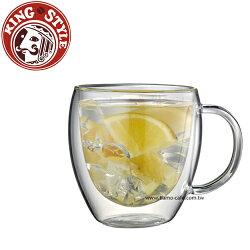 金時代書香咖啡 Tiamo 雙層玻璃杯 把手款 275cc 2入 (HG2340)