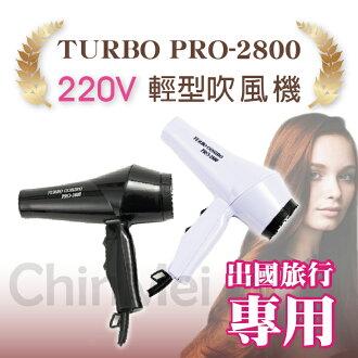 【晴美髮舖】華儂 TURBO PRO-2800 兩段式 電壓 220V 出國旅行專用 輕型 吹風機 美髮 沙龍 專業用【Chinmei】