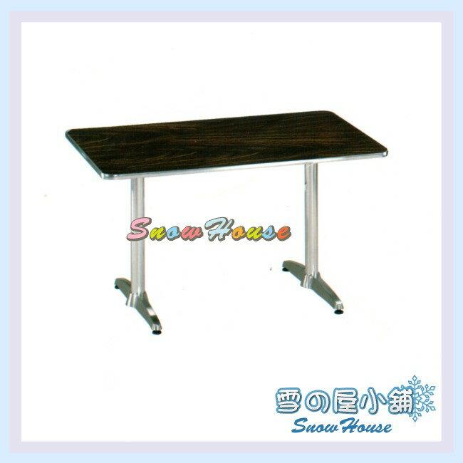 ╭~雪之屋居家 館~╯AA997~12 105x60胡桃面鋁桌 休閒桌 戶外桌 長方桌 茶