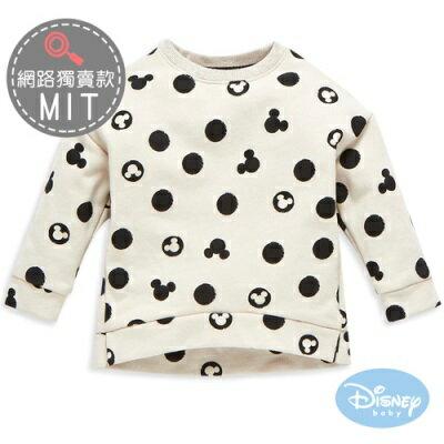 DisneyBaby斑駁圓點米奇長袖上衣
