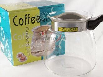 《愛鴨咖啡》FH-008一屋窑 耐熱 玻璃 花茶壺 直火壺 2000ml