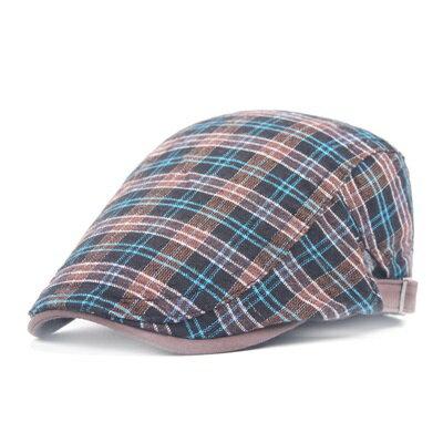 貝雷帽鴨舌帽-復古學院風格子個性男女帽子2色73tv226【獨家進口】【米蘭精品】
