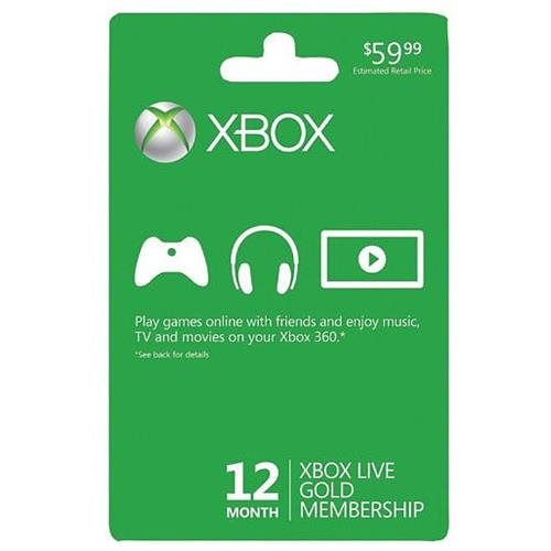 Xbox Live 12 Month Gold Membership (U.S Version) 0