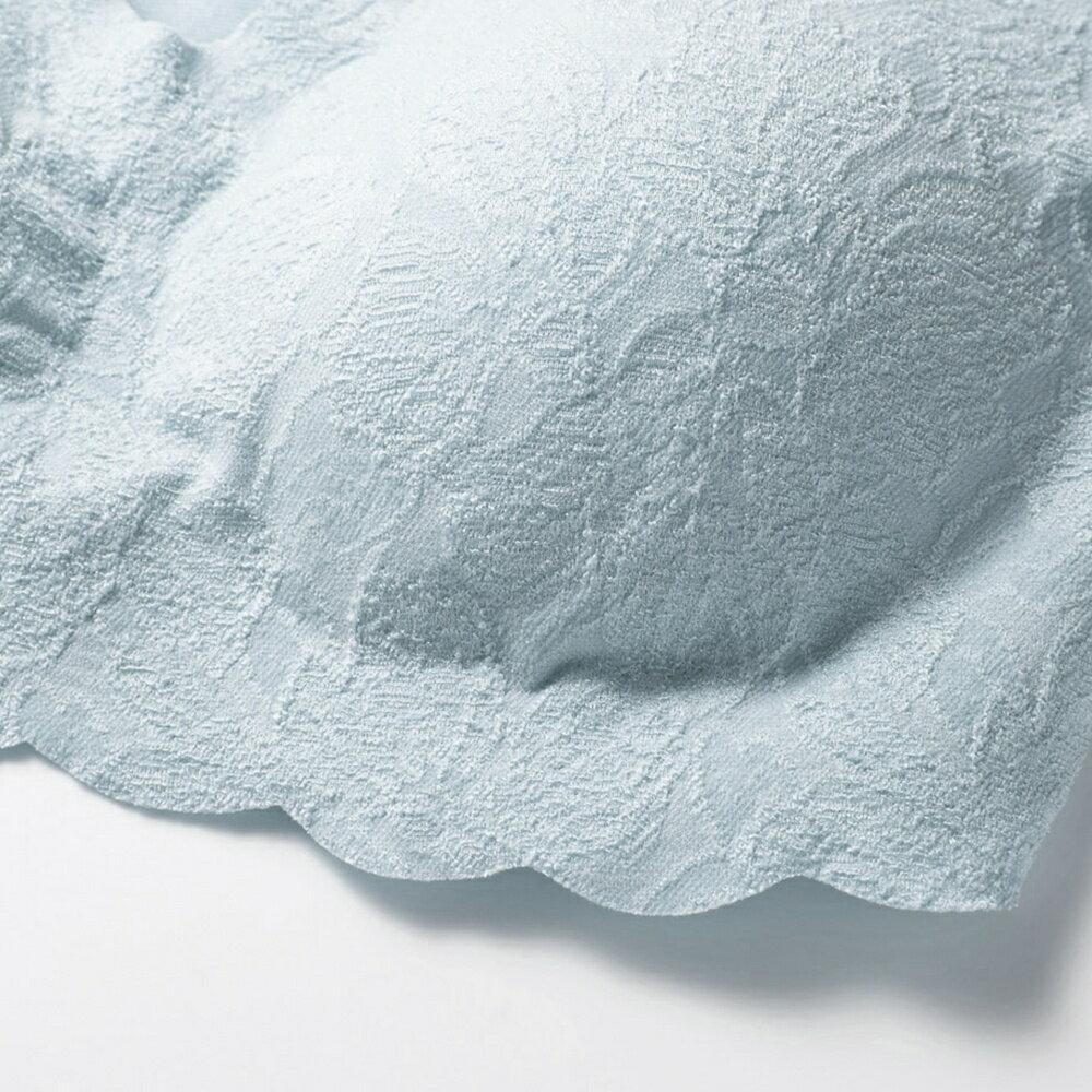 【Gunze 郡是】絲蛋白保濕美型無鋼圈內衣-霧藍(KB1355-NBL) 6