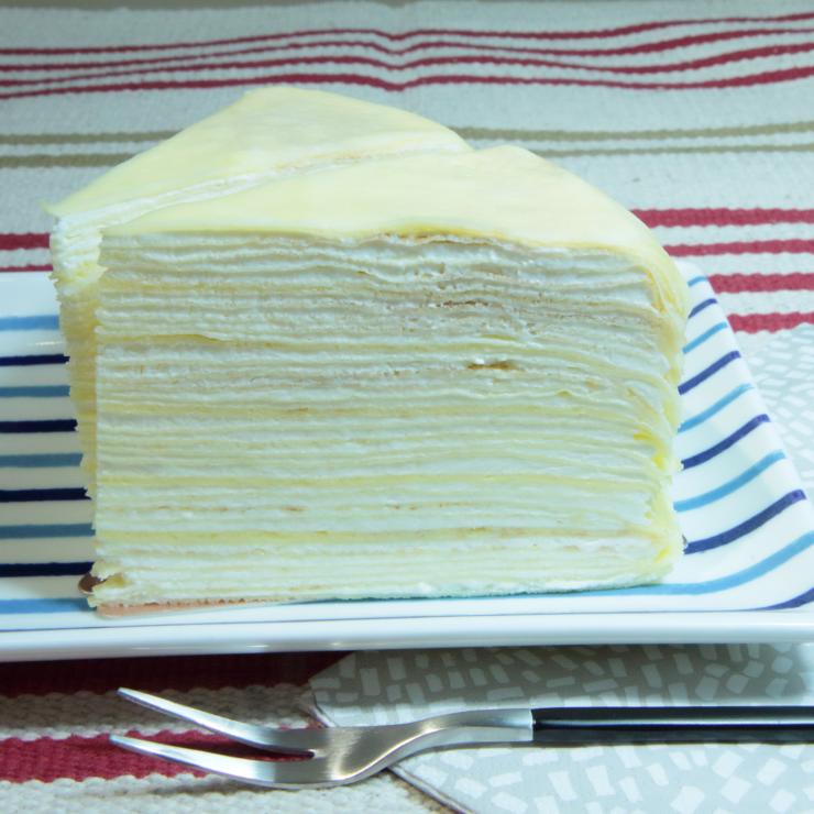 50層超級堆疊, 8吋切片(計三片入)【手工千層蛋糕】. 超薄手工蛋餅 入口即化