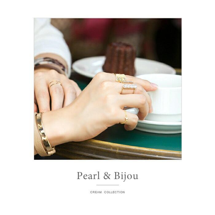 日本CREAM DOT  /  個性鋯石珍珠戒指-a00481-日本必買 日本樂天直送(1078) /  件件含運 7