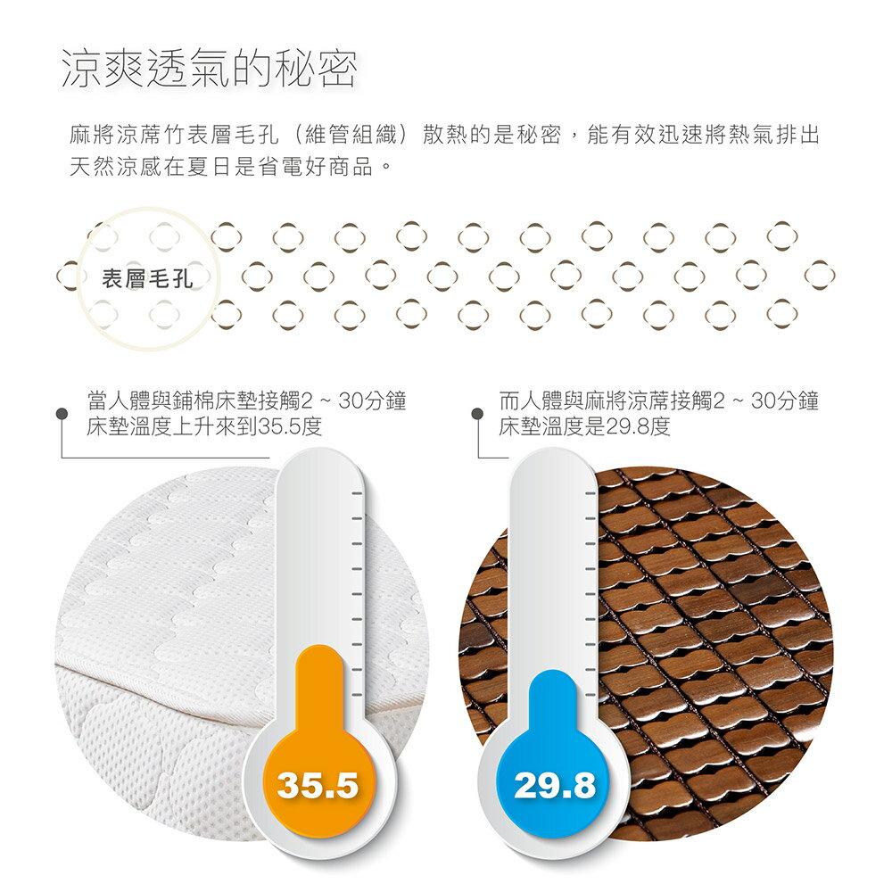3D碳化麻將蓆 (單人 / 雙人 / 加大 / 特大) 立體透氣網 / 棉繩專利設計 / 頂級緹花包邊 / 涼席 BEST貝思特 6