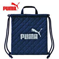PUMA運動品牌推薦PUMA運動鞋/慢跑鞋/外套推薦到藍灰款【日本正版】日本製 PUMA 束口後背包 後背包 束口袋 手提設計 - 130168