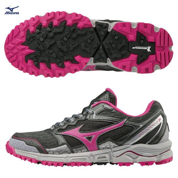J1GK187135(灰X粉紅)止滑耐磨米其林大底WAVEDAICHI3女慢跑鞋【美津濃MIZUNO】