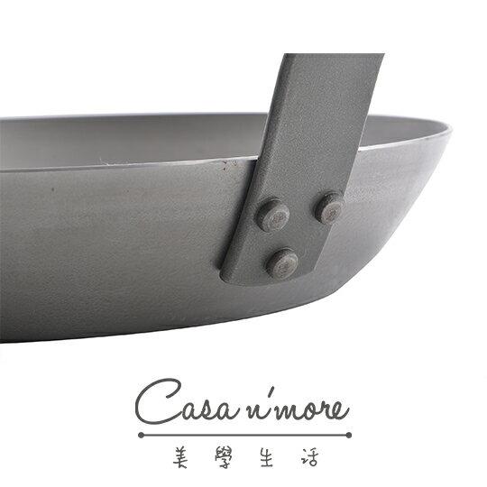 De Buyer 鐵鍋 牛排鍋 圓形橫紋牛排煎鍋 蜂蠟天然礦系列 32 cm 3