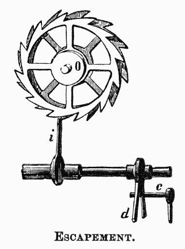 Breguet-Escapement-Nclock-Escapement-Designed-By-French-Watchmaker-Abraham-Louis-Breguet-1747-1823-Line-Engraving-19Th-Century-Rolled-Canvas-Ar