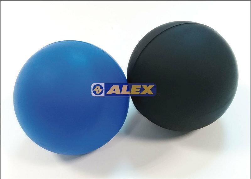 騎跑泳/勇者-ALEX按摩球(直徑6cm)(只),藍色/黑色.按摩部位:腿、手臂、足底、臀部。※ 局部重點加壓按摩
