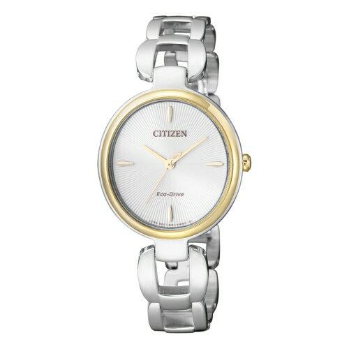 CITIZEN Eco~Drive 絕佳優雅光動能女仕腕錶  EM0424~88A