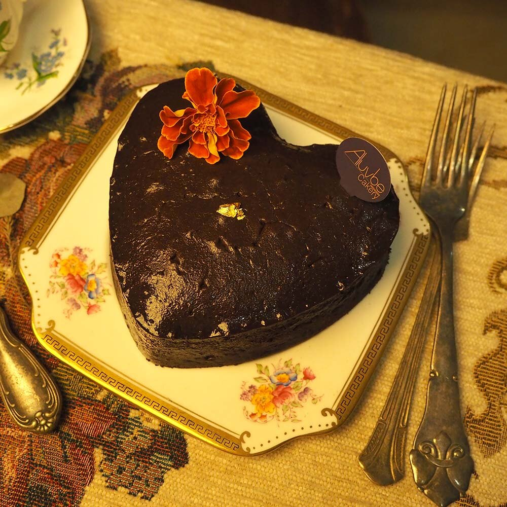 艾樂比 【法芙娜黑心巧克力蛋糕】 6吋  蛋糕 甜點 黑森林蛋糕 巧克力蛋糕 aluvbe