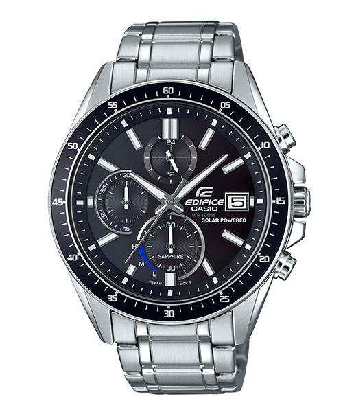 CASIO卡西歐 EDIFICE EFS-S510D-7 太陽能水晶玻璃經典時尚計時腕錶