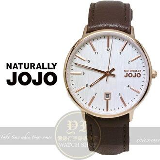 NATURALLY JOJO薄型簡約真皮腕錶/36mm/JO96898-80R原廠公司貨