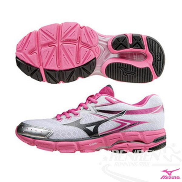 MIZUNO 美津濃 WAVE CONNECT 2 支撐型女慢跑鞋 (白*黑) 初學者的首選