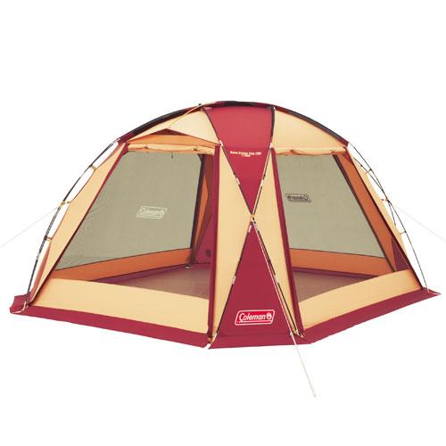 【露營趣】中和  Coleman  圓頂網屋/380勃根地 炊事帳 客廳帳 可四面開附帳篷連接布CM-27291