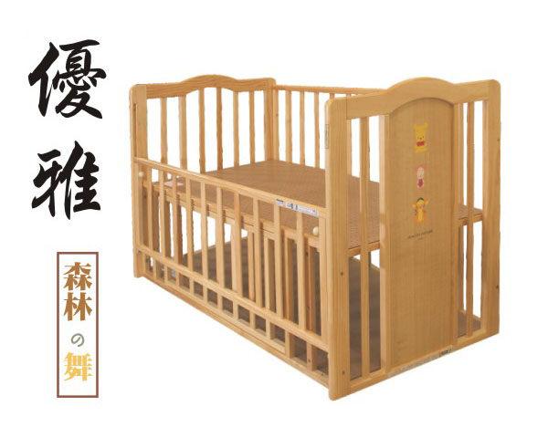維尼原木嬰兒床 日本製