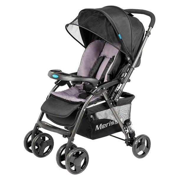 Merissa 美瑞莎 LT-3R Plus 雙向嬰兒手推車-石岩黑【悅兒園婦幼生活館】