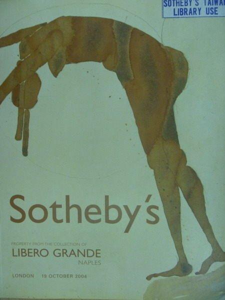 【書寶二手書T9/收藏_XDX】Sothebys_2004/10/19_Libero Grande