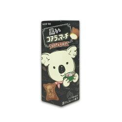 樂天LOTTE 小熊餅乾 48g - 黑巧克力牛奶風味