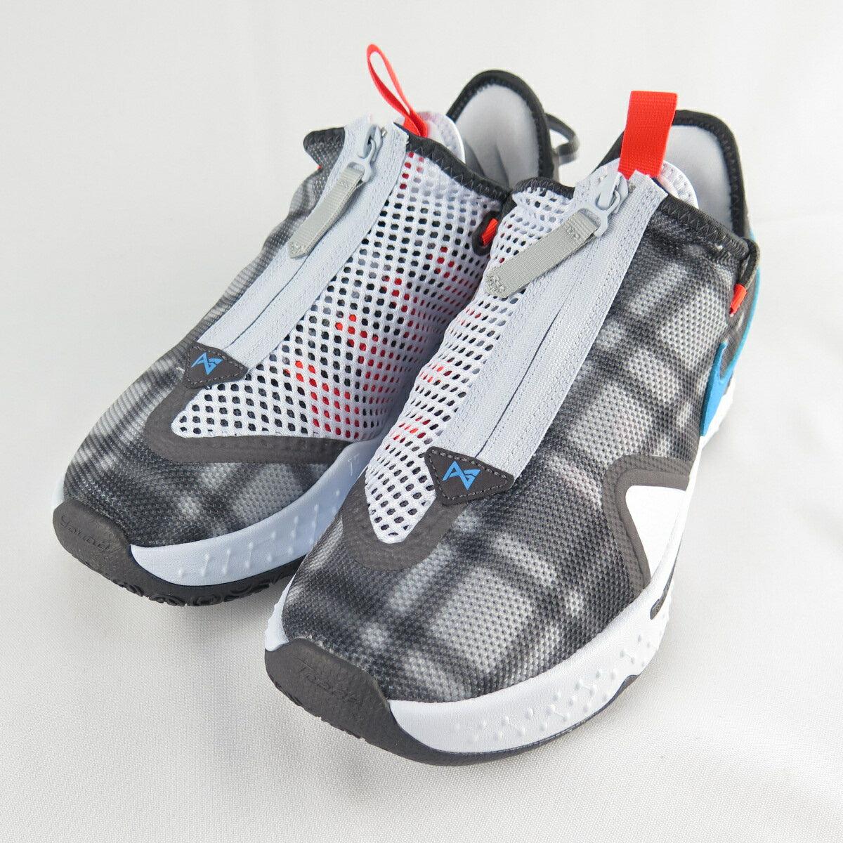 NIKE PG 4 EP 男款 籃球鞋 XDR耐磨底 CD5082002 灰X藍 大尺碼【iSport愛運動】