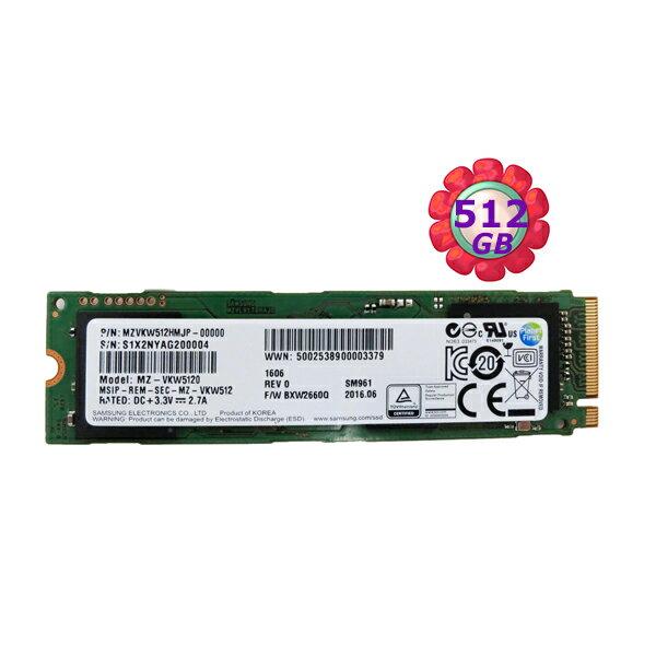 Samsung 三星 SSD 512GB 512G【NVMe】SM961 Gen3 M.2 80mm PCIe 3.0 x4  MZVKW512HMJP  固態硬碟
