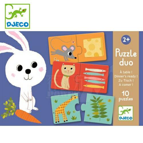 法國 DJECO 智荷 厚紙拼圖-小白兔說故事