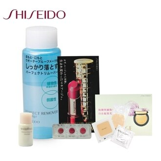 SHISEIDO 資生堂 卸眼唇專用清潔液 120ml一瓶 送 心機粉餅試用三件旅行組
